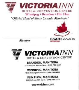 2017 Victoria Inn Member card